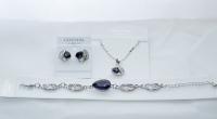 Комплект бижутерии с пурпурными камнями сваровски