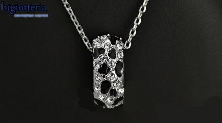 Подвеска леопард с камнями Swarovski и покрытием платиной