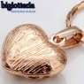 Пдвеска сердце с камнями Swarovski