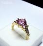Кольцо с розовыми сапфирами и позолотой